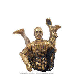 C-3PO with Realistic Metallized Body and Cargo Net