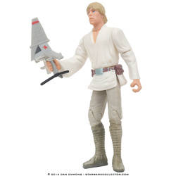 Luke Skywalker with T-16 Skyhopper Model (Commtech)