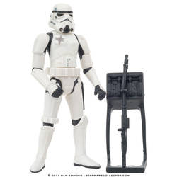 Stormtrooper with Battle Damage and Blaster rifle rack (Commtech)
