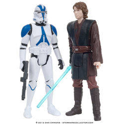 Coruscant - Anakin Skywalker and 501st Legion Trooper