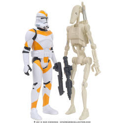Utapau - Battle Droid and 212th Battalion Clone Trooper