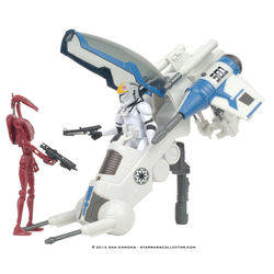 501st Legion Attack Dropship with Clone Pilot & Battle Droid