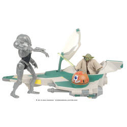 Yoda's Jedi Attack Fighter with Yoda & Super Battle Droid