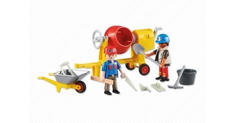 Ouvriers avec b tonni re sets divers 6339 - Betonniere playmobil ...