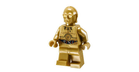Lego Minifig: C-3PO sw700 Colorful Wires Decorated Legs