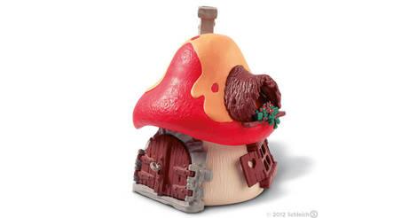 Grande maison schtroumpf figurine 49001 maisons et b timents schtroumpfs - Schtroumpf maison ...