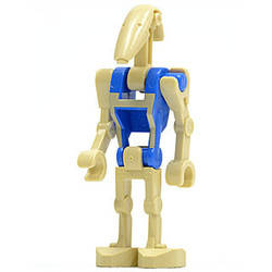 Battle Droid Pilot with Blue Torso with Tan Insignia