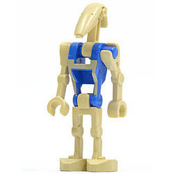 Battle Droid pilot, Blue Torso with Tan Print and one Straight Arm