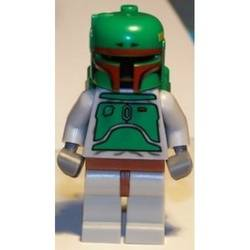 Boba Fett with Stone Gray Colors and Dark Red Helmet Markings