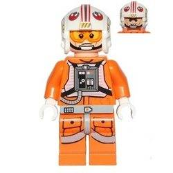 Luke Skywalker (Pilot, Printed Legs, Cheek Lines) (75049)