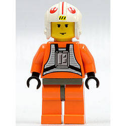 Luke Skywalker with Pilot Outfit (Medium Stone Gray Hips)