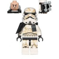 Stormtrooper (Tatooine) with Black Pauldron, Re-Breather on Back, Dirt Stains, Patterned Head (Sandtrooper) (75052)