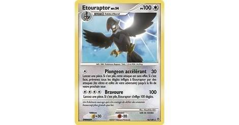 Etouraptor carte pok mon 16 130 pok mon s rie diamant et perle - Pokemon rare diamant ...