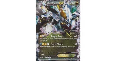 Kyurem Noir Ex Carte Pokémon 100 113 Trésors Légendaires