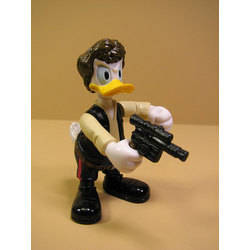 Donald Duck as Han Solo