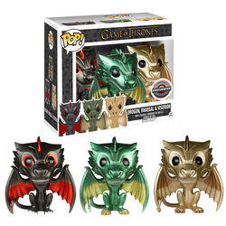 Game of Throne - Drogon, Rhaegal and Viserion Metallic
