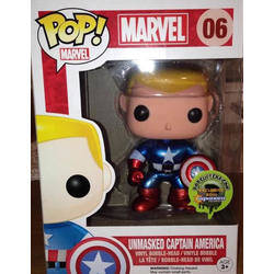 Marvel - Unmasked Captain America Metallic
