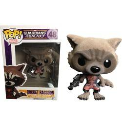 Guardians of the Galaxy - Rocket Racoon Red Flocked