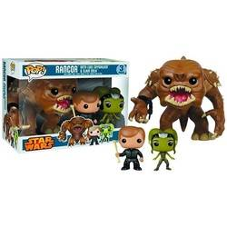 Rancor With Luke Skywalker And Slave Oola 3 Pack