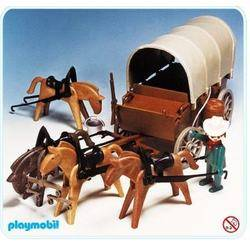 Covered Wagon and Horse