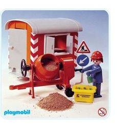 Construction Trailer and Cement Mixer