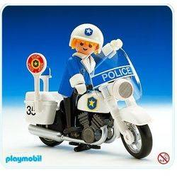 Policeman on Motorcycle