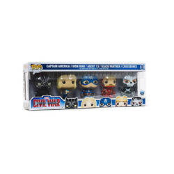 Civil War - Captain America, Iron Man, Agent 13, Black Panther And Crossbones 5 Pack