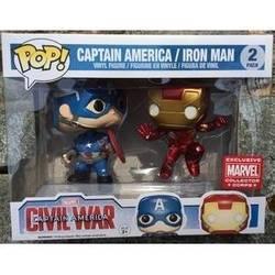 Civil War - Captain America And Iron Man Action Pose 2 Pack