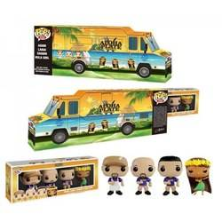 Aloha Plate - Truck With Adam, Lanai, Shawn And Hula Girl Blu Shirt 4 Pack
