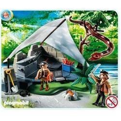 Treasure Hunter's Camp with Giant Snake