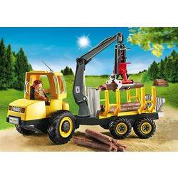 Forwarder with crane