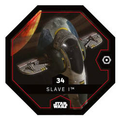 "Carte Leclerc Star Wars /""Rogue One/"" N°34 Slave I 2016"