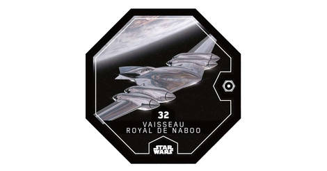 "2016 Vaisseau Royal de Naboo Carte Leclerc Star Wars /""Rogue One/"" N°32"