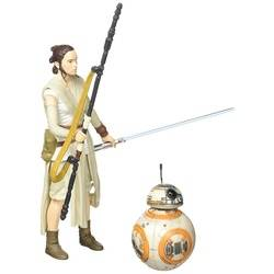 Rey with lightsaber (Jakku) & BB-8
