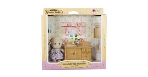 soeur mouton avec set de cuisine figurine sylvanian families europe. Black Bedroom Furniture Sets. Home Design Ideas