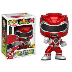 Power Rangers - Red Ranger In Action Pose Metallic