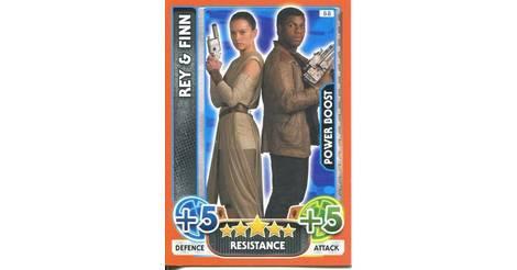 Force Attax Movie 4 Extra -94 REY et Finn-La Résistance Han Chewbacca
