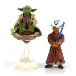 Yoda and Chian, Padawan Lightsaber Training