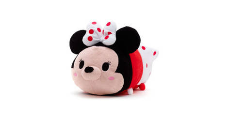 minnie polka dots peluche m dium tsum tsum. Black Bedroom Furniture Sets. Home Design Ideas