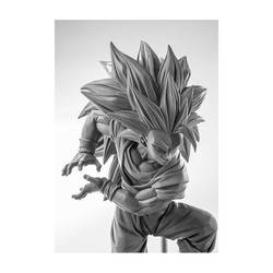 Son Goku Super Saiyan Kamehameha - Dragon Ball Z Scultures grey version
