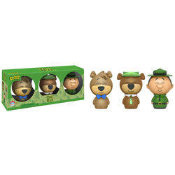 Hanna Barbera - Boo Boo, Yogi Bear And Ranger 3 Pack