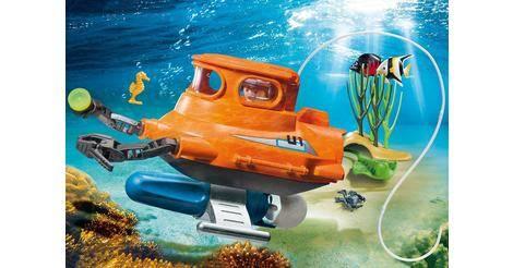 u boot with underwater motor playmobil sets 9234. Black Bedroom Furniture Sets. Home Design Ideas