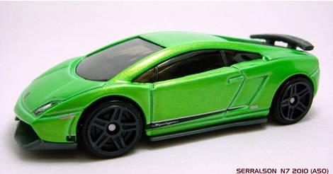 Lamborghini Gallardo Supperleggera Classic Hot Wheels Model T9679