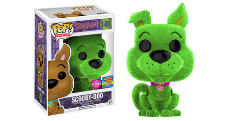 scooby doo scooby doo green flocked figurine pop 149 pop animation. Black Bedroom Furniture Sets. Home Design Ideas