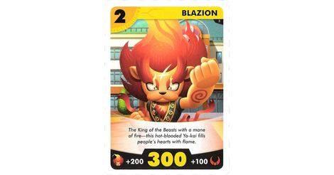blazion yo kai watch card game 003