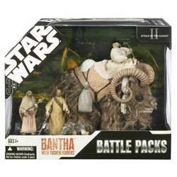 Bantha with Tusken Raiders - brown