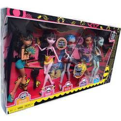 Cleo, Clawdeen, Ghoulia, Draculaura & Frankie (5-pack exclusive) - Gloom Beach
