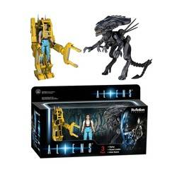 Aliens - Ripley, Power Loader, Queen