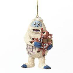 Bumble Holding Rudolph Hanging Ornament