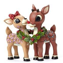 Rudolph and Clarice with Wreath